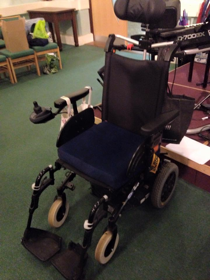 EMPTY WHEEL CHAIR ENGLAND 2015